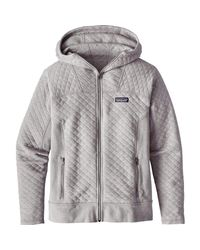 Lyst Patagonia Cotton Quilt Full Zip Hoodie In Gray For Men
