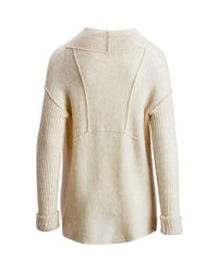 Free People - White Cascade Cardi Sweater - Lyst
