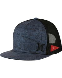 Hurley - Black Jjf Maps Trucker Hat for Men - Lyst