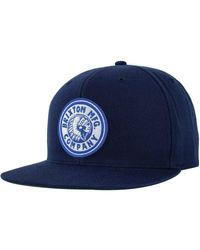 Brixton - Blue Rival Snapback Hat for Men - Lyst