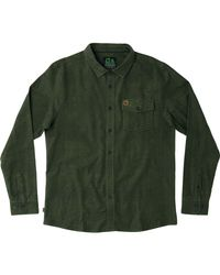 Hippy Tree Green Cabrillo Flannel Shirt for men