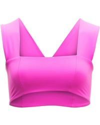 L*Space | Pink Parker Bikini Top | Lyst