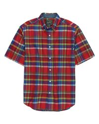 Woolrich - Red Timberline Shirt - Short-sleeve for Men - Lyst
