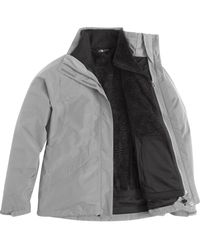 The North Face - Gray Boundary Triclimate Hooded Jacket - Lyst