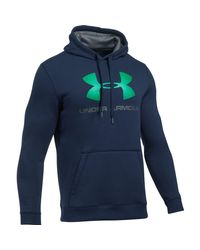 Under Armour | Blue Rival Graphic Pullover Hoodie for Men | Lyst