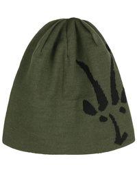 Ibex - Green Knit Logo Beanie for Men - Lyst