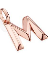 Monica Vinader | Pink Rose Gold-plated Alphabet Pendant M | Lyst