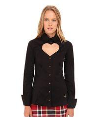 Vivienne Westwood Red Label - Black Classic Poplin Love Shirt - Lyst