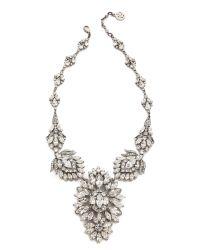 Ben-Amun - Metallic Crystal Statement Necklace - Clear - Lyst
