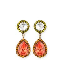 DANNIJO | Metallic Monaco Teardrop Earrings | Lyst