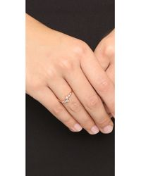 Shashi | Pink Noa Ring - Rose Gold/clear | Lyst