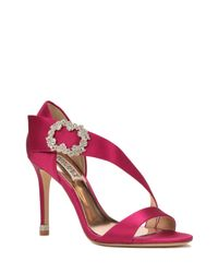 Badgley Mischka | Pink Night Embellished Evening Shoe | Lyst