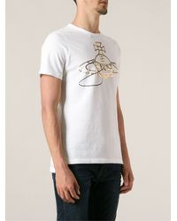 Vivienne Westwood Anglomania - White Logo Print T-Shirt for Men - Lyst