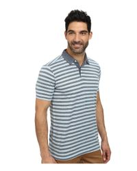 Agave | Blue Sultans Short Sleeve Polo for Men | Lyst