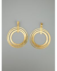 Herve Van Der Straeten - Metallic Circle Clip Earrings - Lyst