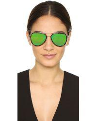 Michael Kors - Metallic Aviator Sunglasses - Tortoise Gold Fuschia/pink - Lyst