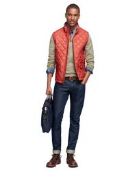 Brooks Brothers - Red Diamond Quilted Vest for Men - Lyst