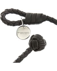 Bottega Veneta - Black Braided Bracelet - Lyst