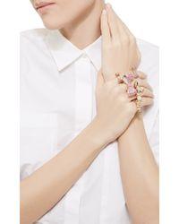 Mimi So - Pink Petite Rose Gold Bow Diamonds Ring - Lyst