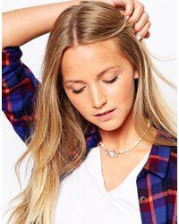 Vivienne Westwood | White Mini Bas Relief Choker Necklace | Lyst