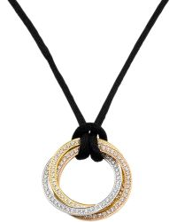 Cartier - Metallic Trinity 18ct Gold And Diamond Pendant Necklace - Lyst