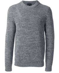 Lanvin - Gray Crew Neck Sweater for Men - Lyst