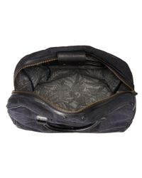 Scotch & Soda - Black Canvas Travel Bag With Leather Details - Lyst