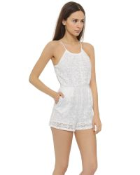 6 Shore Road By Pooja - Pacific Lace Romper - Moonlight White - Lyst