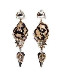 Erickson Beamon - Metallic 'Sacred Geometry' Glitter Crystal Spike Earrings - Lyst