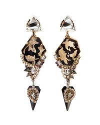 Erickson Beamon | Metallic 'Sacred Geometry' Glitter Crystal Spike Earrings | Lyst