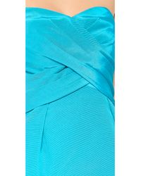 Shoshanna - Blue Kira Strapless Dress - Lyst