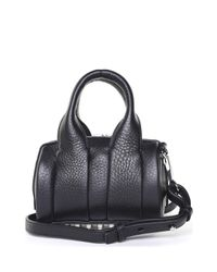 Alexander Wang - Black Mini Rockie Pebbled-leather Cross-body Bag - Lyst
