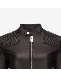 Bally - Black Nappa Leather Jacket - Lyst
