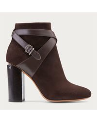 Bally - Brown Caphie Women ́s Suede Ankle Boot In Testa Di Moro - Lyst