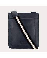 Bally | Terino Men ́s Leather Cross Body Bag In New Blue for Men | Lyst