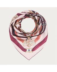 Bally - Multicolor Belt Print Carré Womenâ ́s Silk Scarf In Multi Dusty Pink - Lyst