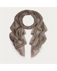 Bally | Gray Lightweight Chevron Scarf Men ́s Cotton And Linen Scarf In Evergreen | Lyst