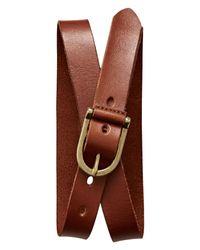 Banana Republic | Brown Cognac Leather Belt | Lyst