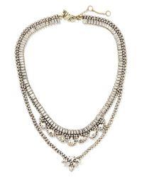 Banana Republic | Metallic Classic Rebel Crystal Built In Necklace | Lyst