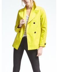 Banana Republic   Yellow Double-breasted Mac Jacket   Lyst
