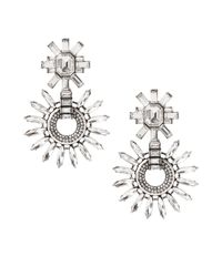 Banana Republic | Metallic Crystal Edge Drop Earring | Lyst
