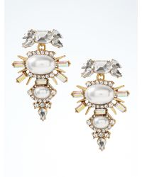 Banana Republic | Metallic Crystal Spike Drop Earring | Lyst