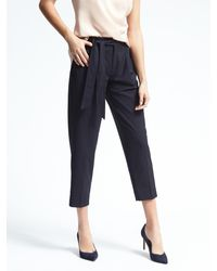Banana Republic | Blue Avery-fit Tie Stripe Pant | Lyst