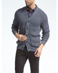 Banana Republic | Blue Ribbed Shawl-collar Cardigan for Men | Lyst