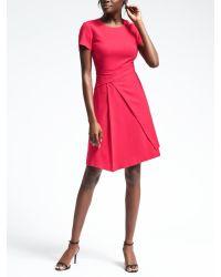 Banana Republic | Red Wrap Skirt Dress | Lyst