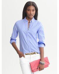 620a24fff5ba2 Lyst - Banana Republic Oxford Shirt in Blue