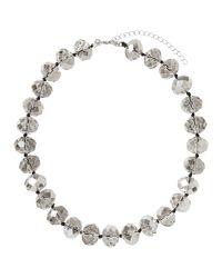 Banana Republic Factory - Metallic Gray Facet Necklace - Lyst