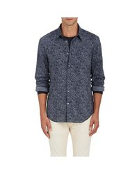 John Varvatos - Blue Rock-print Plain for Men - Lyst
