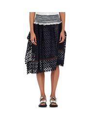 Kolor | Blue Lace Ruffle Skirt | Lyst