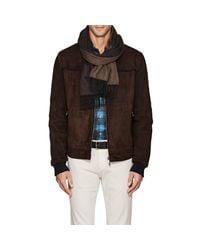 Drake's - Brown Reversible Wool for Men - Lyst
